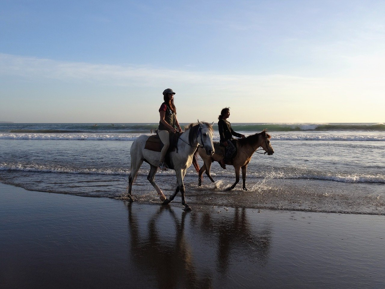 walk on the beach, horses, bali